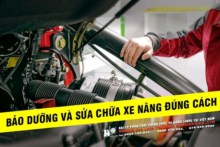 Bảo dưỡng và sửa chữa xe nâng đúng cách