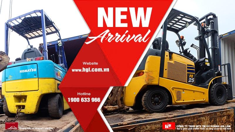 Hàng mới về 7.2020: Container xe nâng Nhật 1 tấn – 2.5 tấn