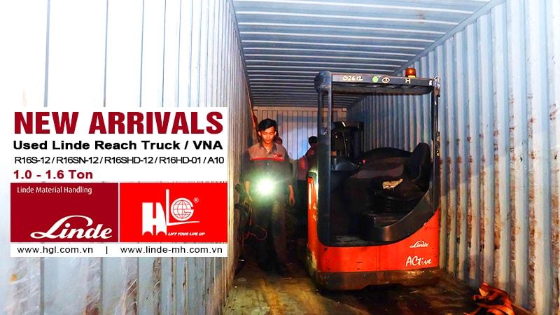 Hàng mới về 10.2020: Container xe nâng Linde đã qua sử dụng 1-1.6 tấn