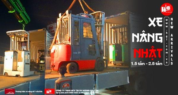 Hàng mới về 1.2021: Container xe nâng Nhật 1.5 tấn – 2.5 tấn