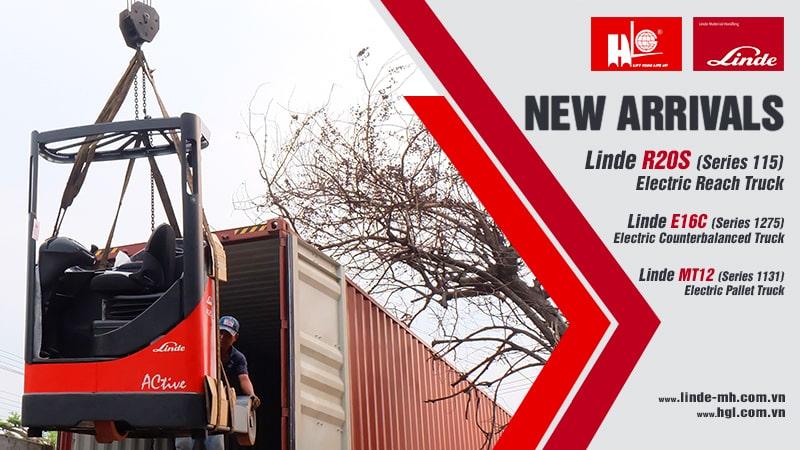Hàng mới về 2.2021: Container xe nâng Linde R20S, E16C & MT12 (Mới 100%)